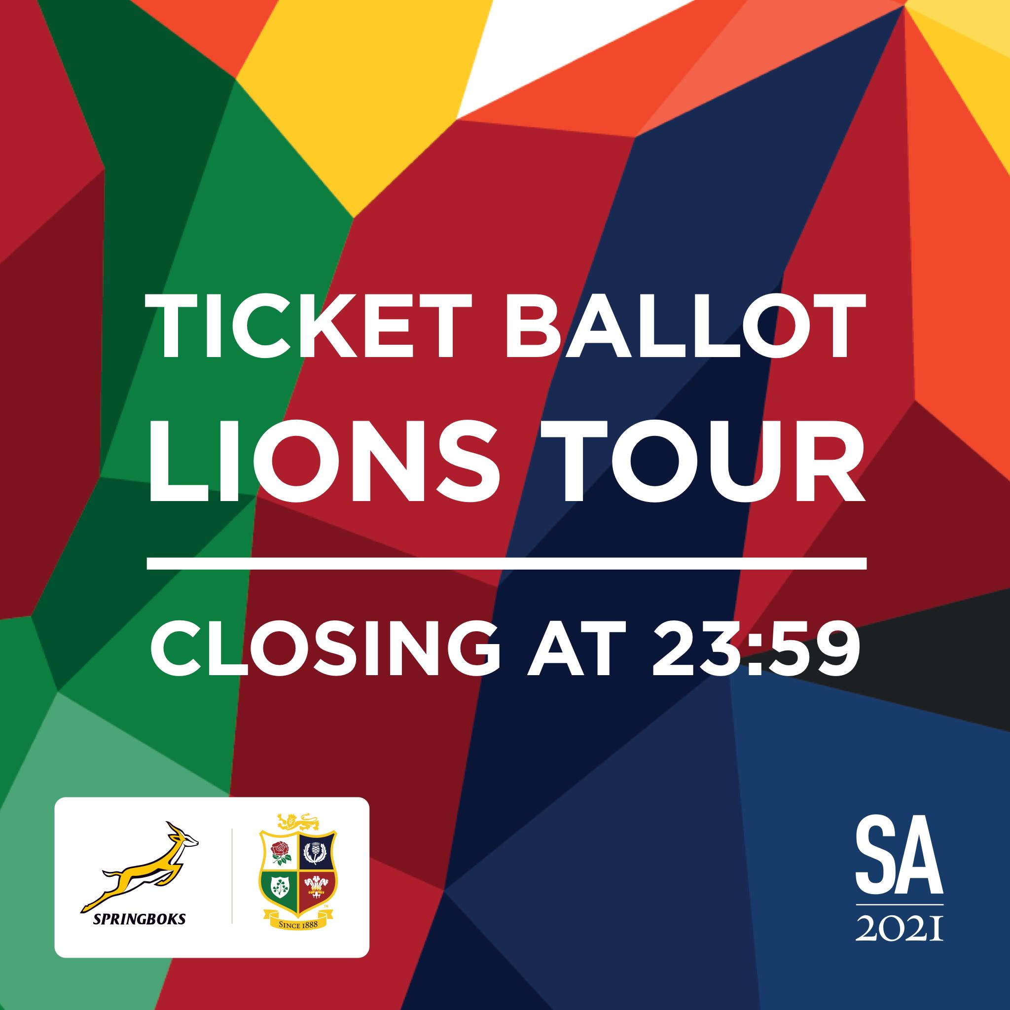 Final day to enter British & Irish Lions ticket ballot